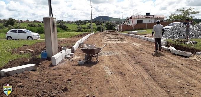 SÃO JOSÉ DOS RAMOS: Prefeitura inicia obra de pavimentação da Rua Projetada..