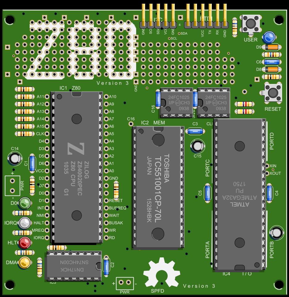 atmega32a pu z80 mbc z80