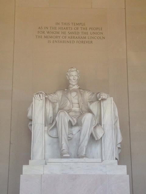 Die Statue von Abraham Lincoln im Lincoln Memorial in Washington DC