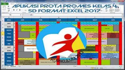 Aplikasi Prota Promes Kelas 4 SD Format Excel 2017