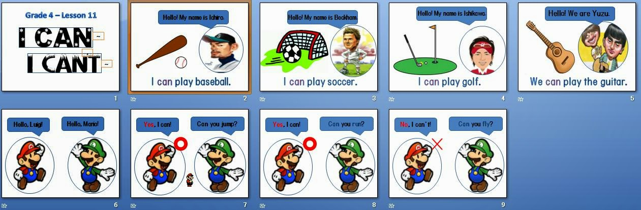 Teacher Perfect ESL Lesson Intro can and can\u0027t - esl powerpoint lesson