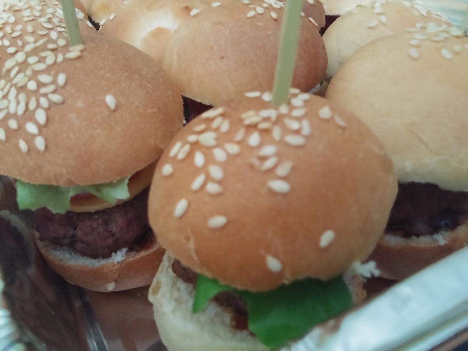Mini burgers pour anniversaire