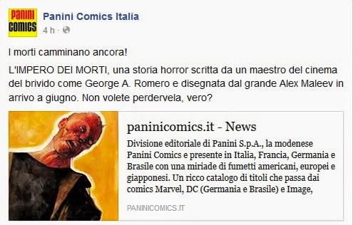 L'impero dei morti (annuncio PaniniComics)