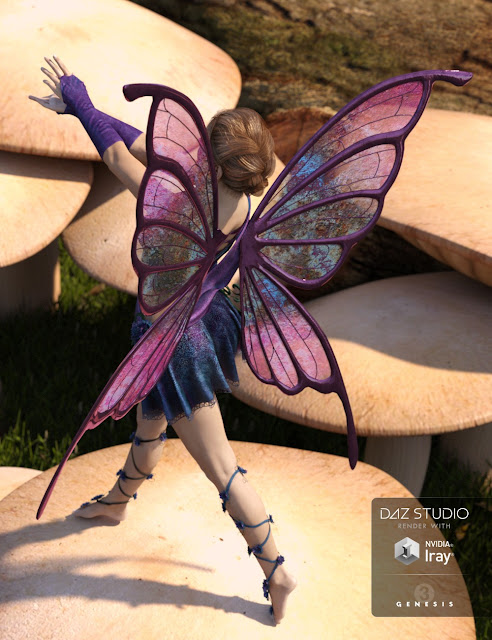 RW Butterfly Wings for Genesis 3 Female
