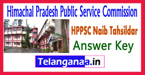 HPPSC Naib Tehsildar Prelims Answer Key 2018