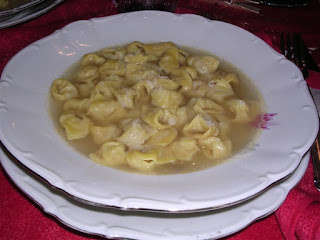 Tortellini are said to be shaped to represent a female navel