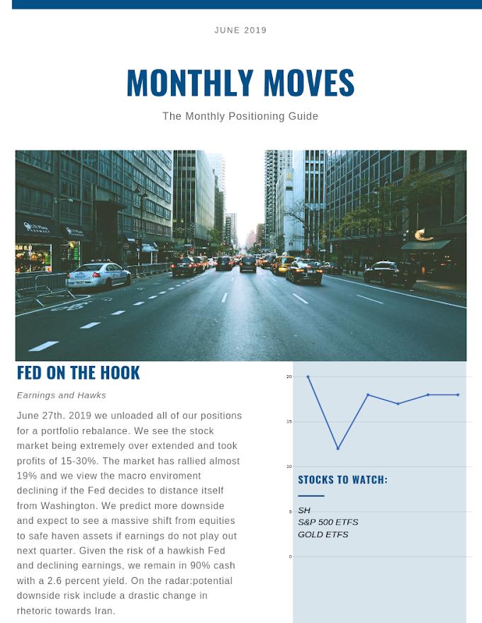 Portfolio Rebalance With a Move Towards Cash