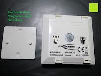 Magnet: ANSMANN Guide Free Motion LED-Orientierungslicht mit integriertem Dämmerungssensor und Bewegungsmelder Kind Baby Senioren mobil universal