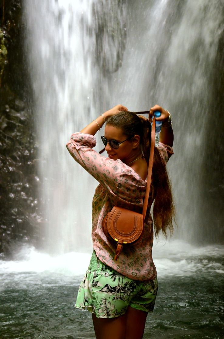 Gitgit twin waterfalls, Tamara Chloé, Bali, Indonesia, Chloe bag