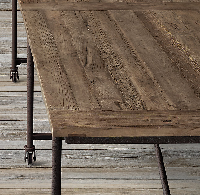 Restoration Hardware Flatiron rectangular table
