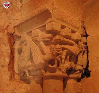 Capitel del Interior iglesia San Juan de Duero, Soria