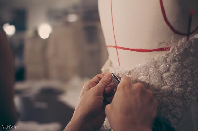 robe de mariée, robe de soirées sur mesure collection Fanny Liautard