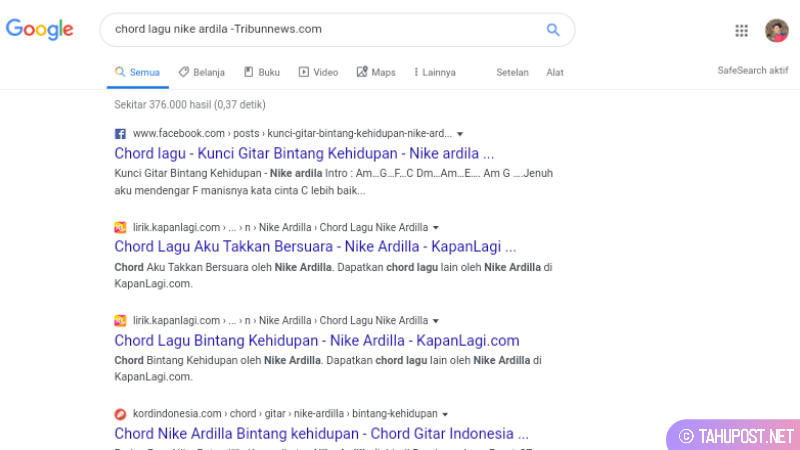 Hasil pencarian chord lagu nile ardila tanpa tribunnews via google