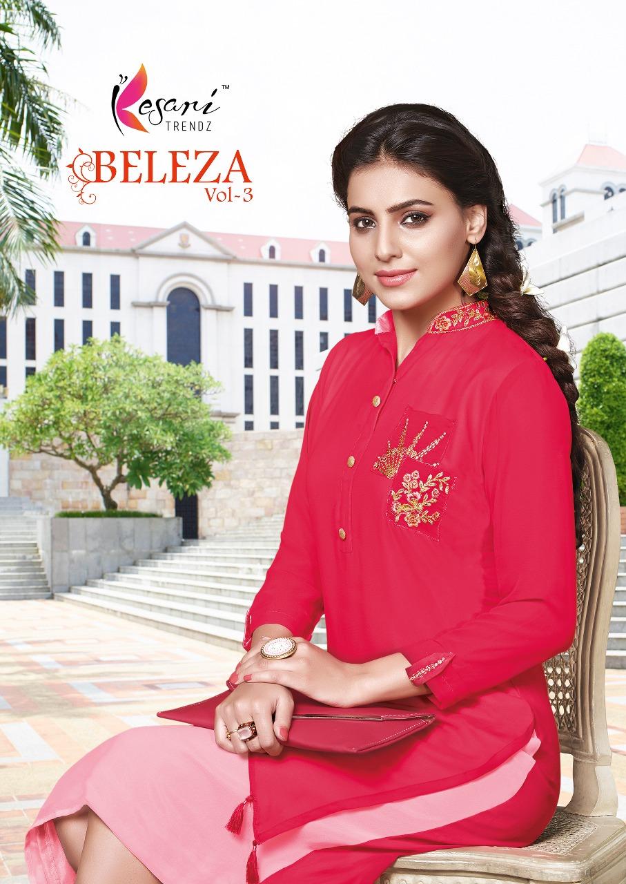 Kesari trendz beleza vol 3 western style kurties catalog