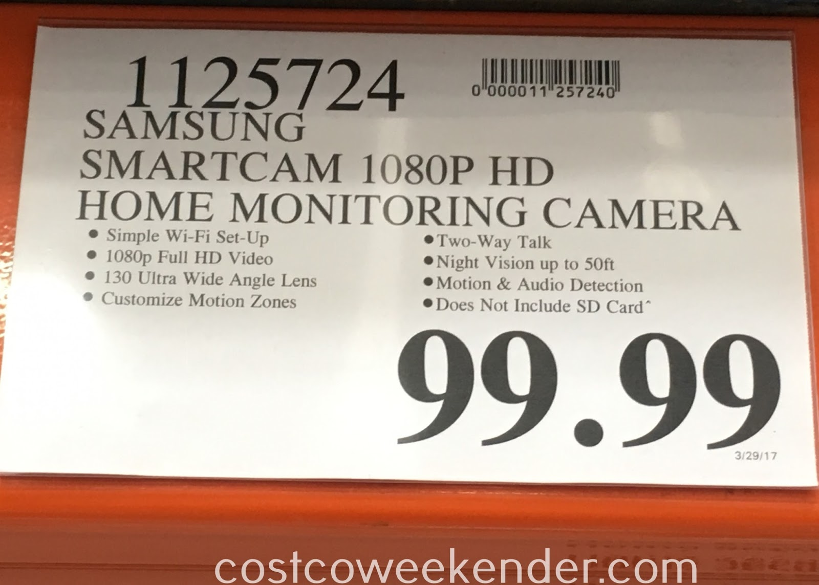 Deal for the Samsung SmartCam SNH-V6431BN Home Security Camera at Costco