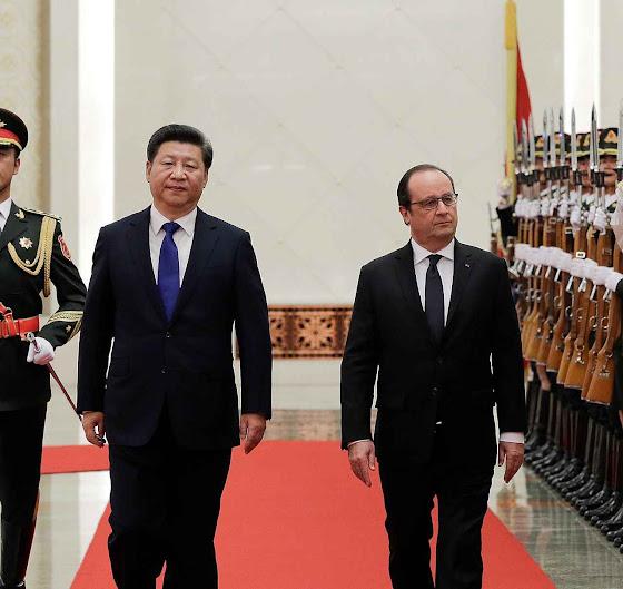 Em Pequim, a França e a China combinaram promover a governança mundial na COP21
