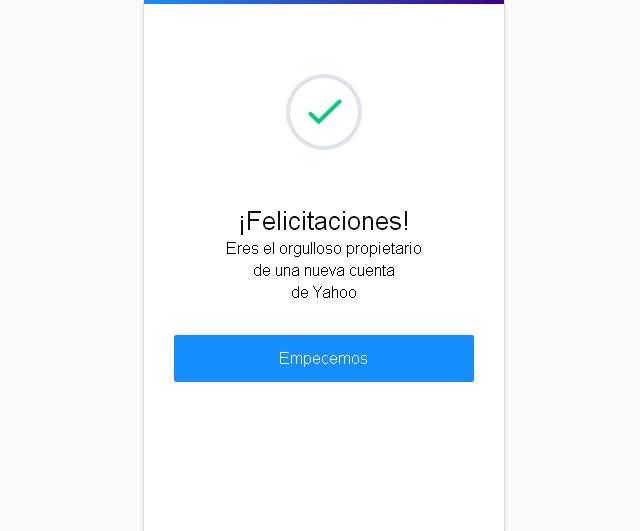 Verificación de correo Yahoo!