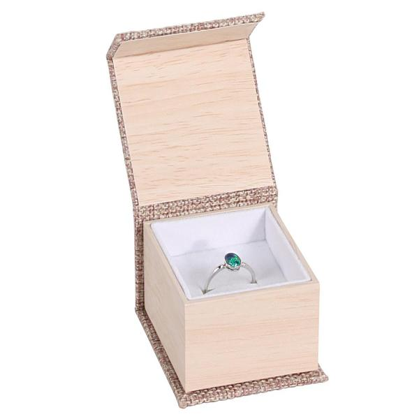 Shop Wholesale Deluxe Burlap Ring Box at Nile Corp