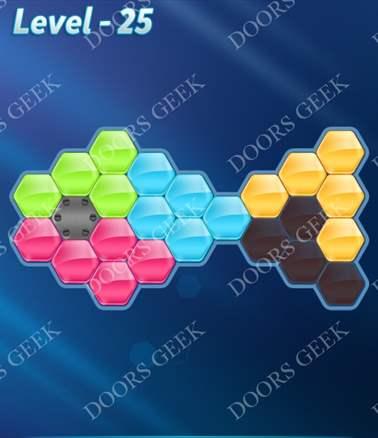 Block! Hexa Puzzle [Intermediate] Level 25 Solution, Cheats, Walkthrough for android, iphone, ipad, ipod