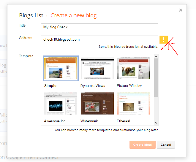How to Check Availability of Blogger URL - Dots Created