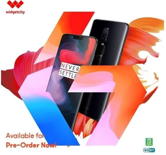 OnePlus 6 Now Up for Pre-order at Widget City; Price Starts at Php30,990!