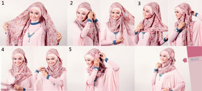 Cara Memakai Jilbab Modern Segi Empat
