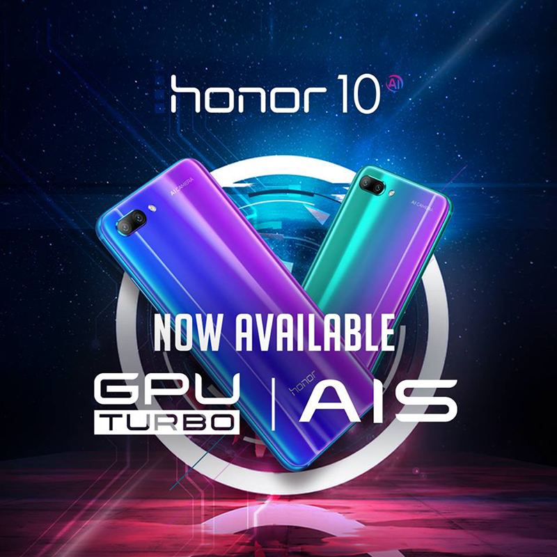 Honor 10 GPU Turbo and AIS update now available!