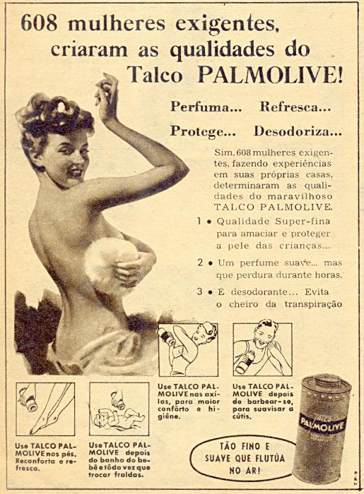 Propaganda antiga do Talco Palmolive em 1953