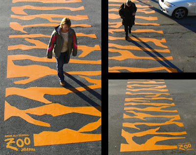 Salzburg Zoo Crosswalk Advertisement