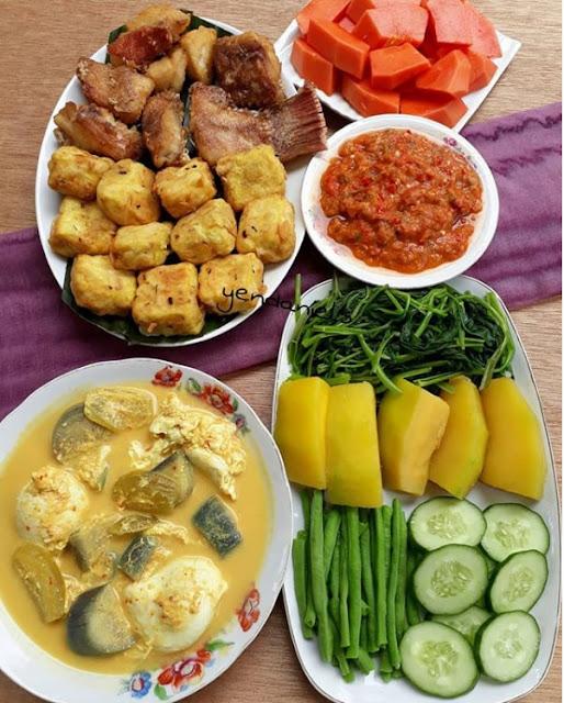 Makan buah dan sayur yg banyak itu harus Resep Menu Makan Siang 1 Paket