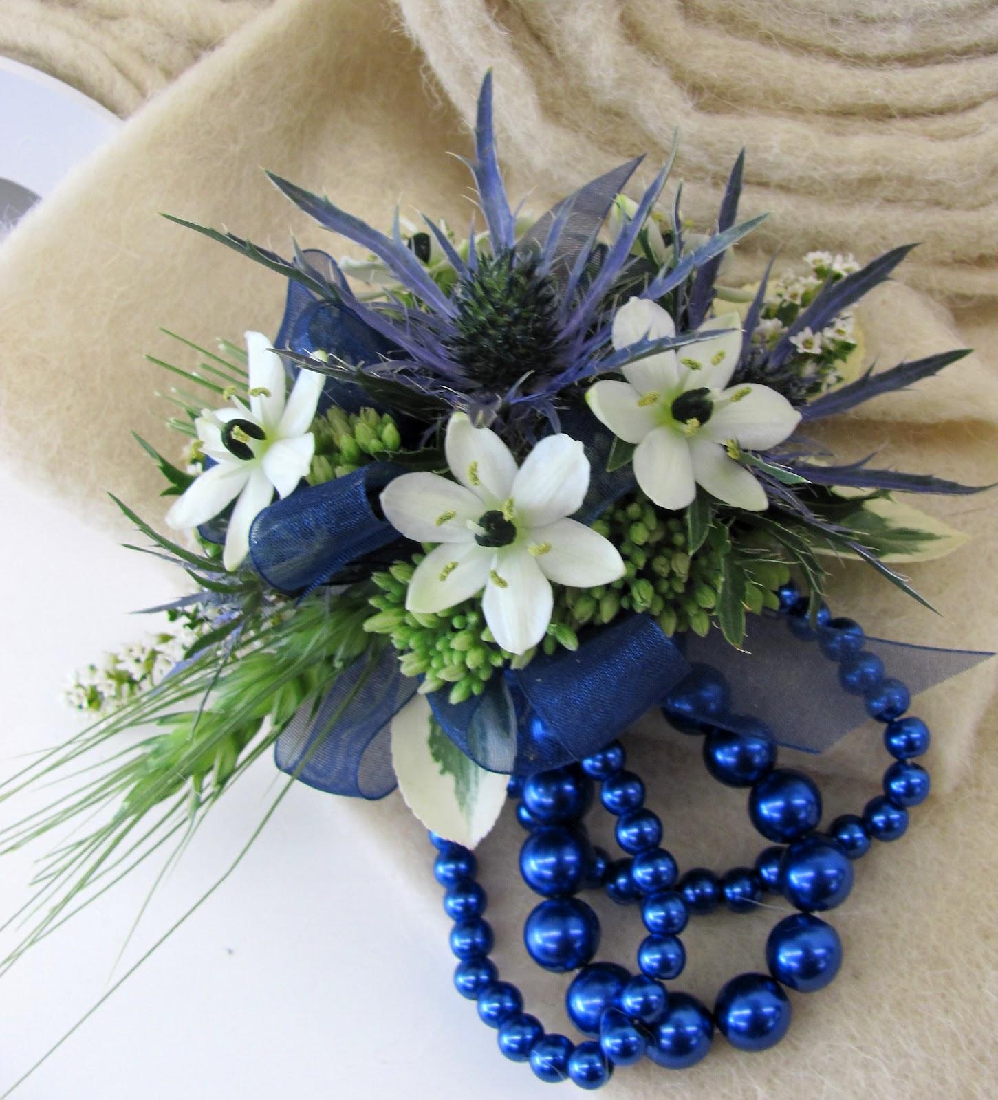 Blue Flower For Prom 16