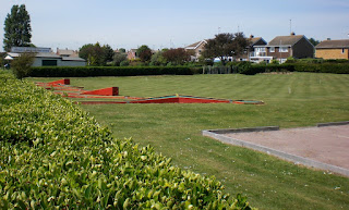 The Petanque terrain, Crazy Golf course and Croquet lawn at Coronation Gardens in Dovercourt