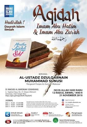 Download [Audio] Rekaman Dauroh Aqidah Imam Abu Hatim & Imam Abu Zur'ah Oleh Ustadz Dzulqarnain M.Sanusi