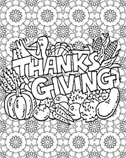 Thanksgiving mandala Coloring pages | Happy Thanksgiving