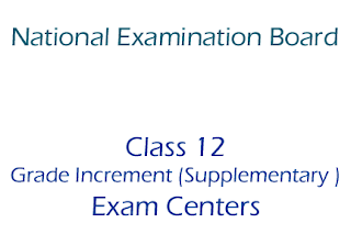 Class 12  Grade Increment (Supplementary ) Exam Centers 2075