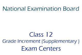 Class 12  Grade Increment (Supplementary ) Exam Centers 2075