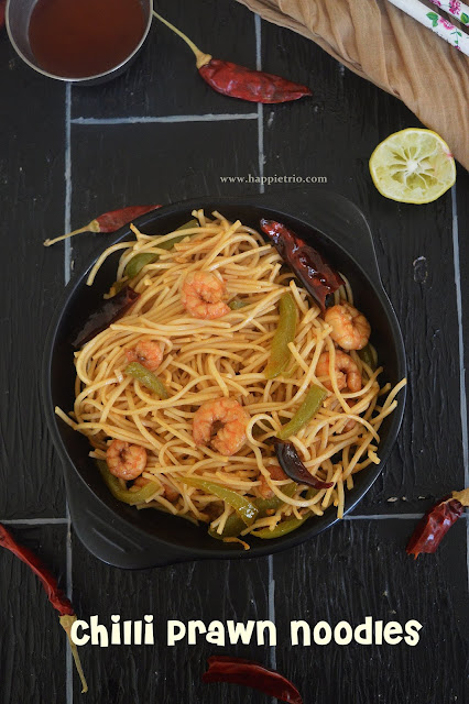Prawn Noodles Recipe | Chilli Prawn Noodles