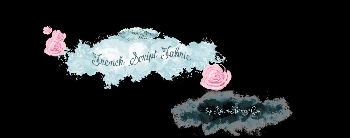 French Script Fabrics Shabby Chic Inspiration
