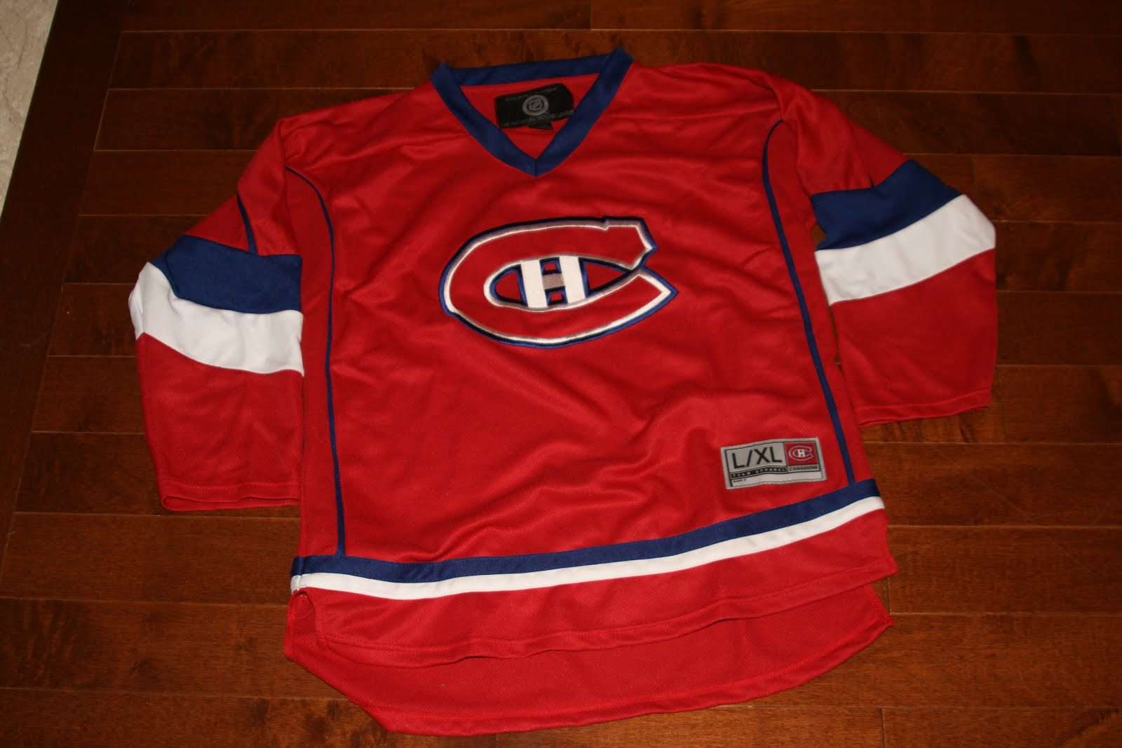 d49ec4823 MONTREAL CANADIENS HABS NHL HOCKEY JERSEY MENS LARGE XL OFFICIAL LICENSED  HOT!!