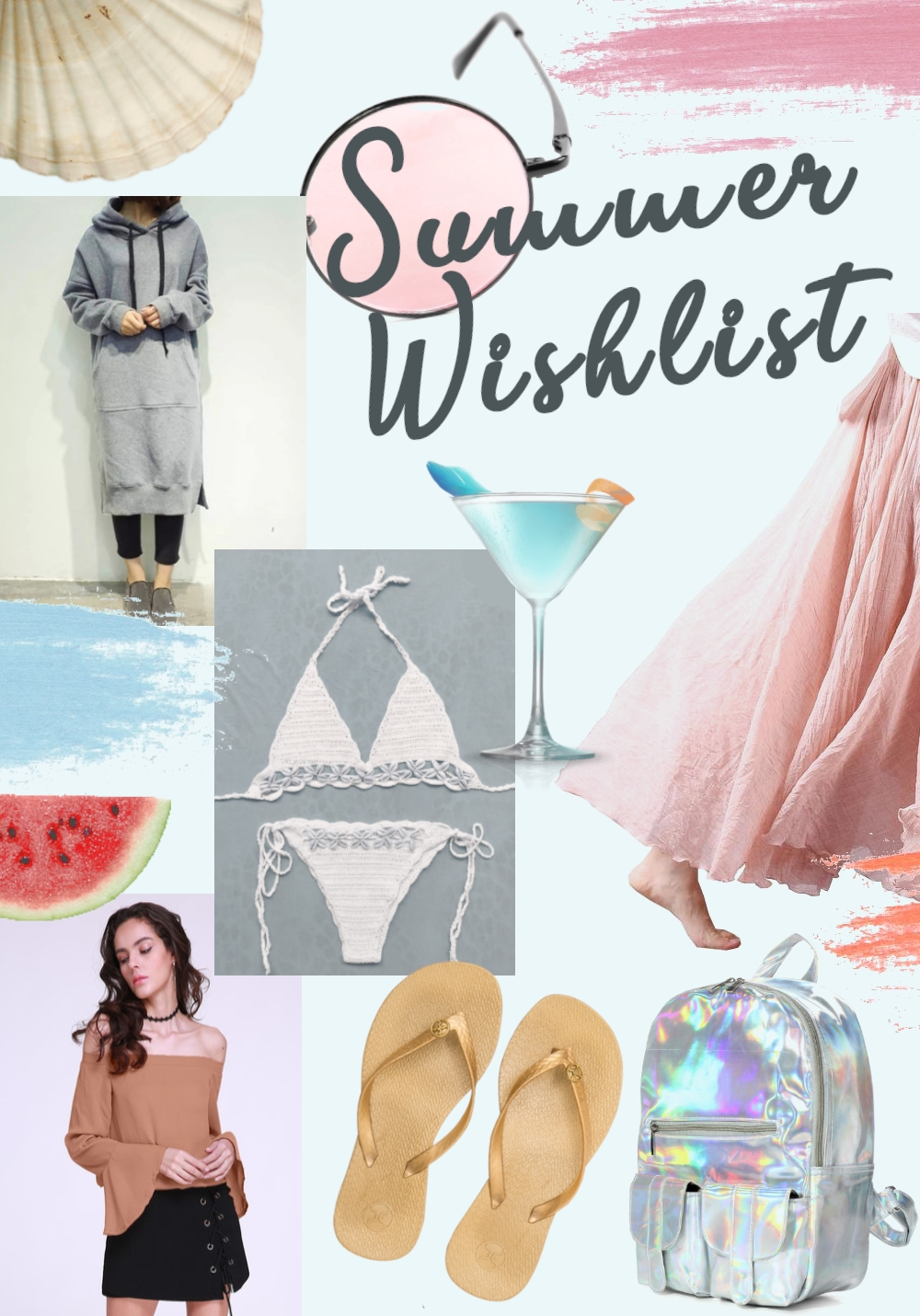 summer wishlist collage