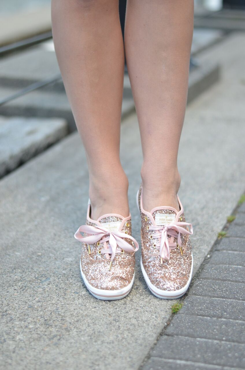 rose gold glitter shoes
