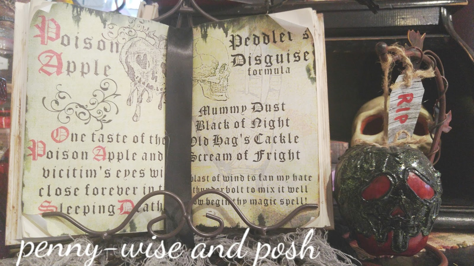 Penny Wise And Posh Diy Poison Apple And Spell Book With