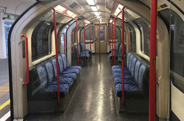 An empty central line tube carriage