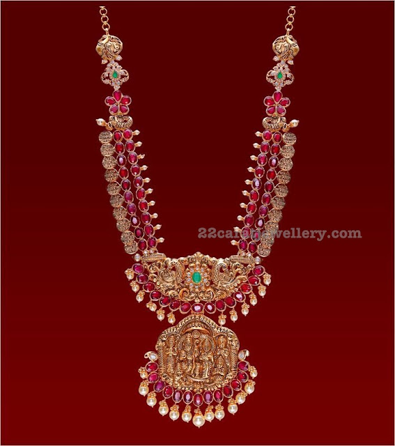 Ruby Long Set with Ramparivar Pendant