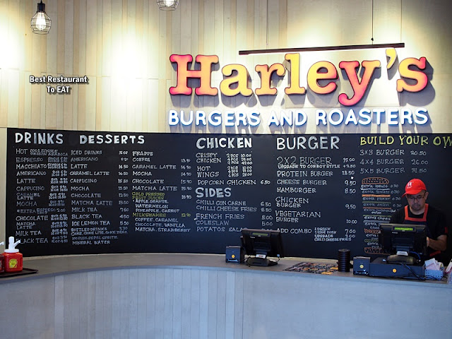 Harley's Burger and Roaster menu