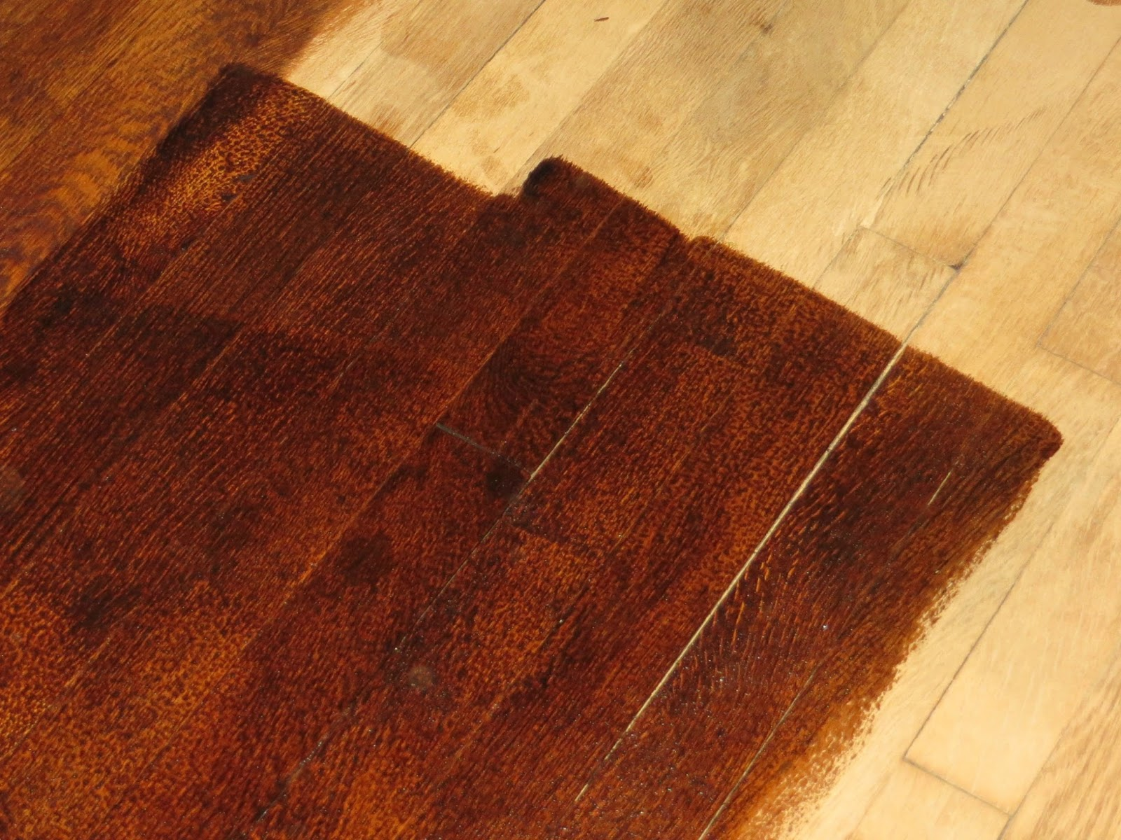 How To Stain Hardwood Floors Through The Eyes Of The Mrs