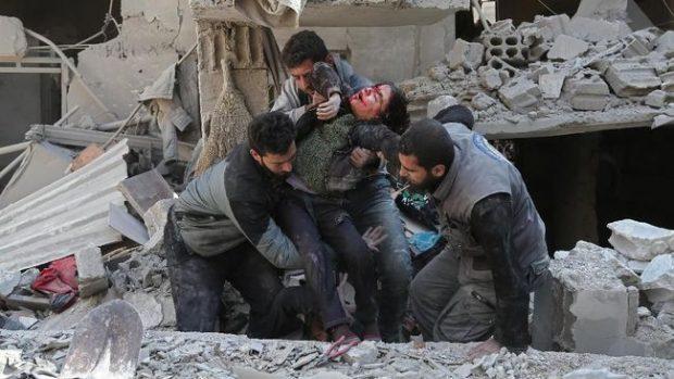 Lima Hari Serangan, 400 Jiwa Melayang di Ghouta