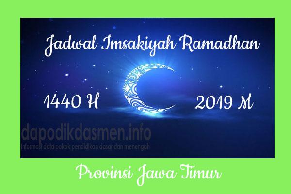 Jadwal Imsakiyah Ramadhan Provinsi Jawa Timur
