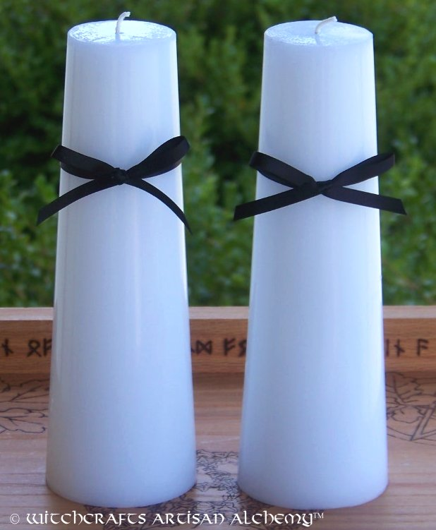 WITCHCRAFTS Artisan Alchemy: SPIRIT CALL White Altar Candle Set w