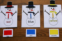 photo of: Montessori Snowman Counting + Colors at PreK+K Sharing